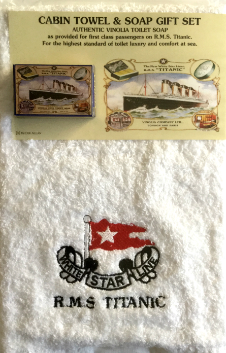 Titanic Cabin Towel and Authentic Soap