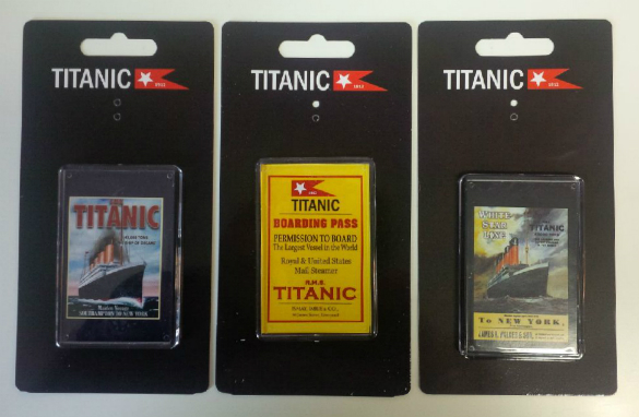 Titanic Photo Acrylic Fridge Magnets Set of 3