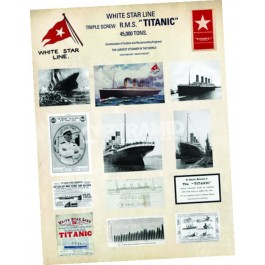 Titanic Collage Art Print 80 x 60cm
