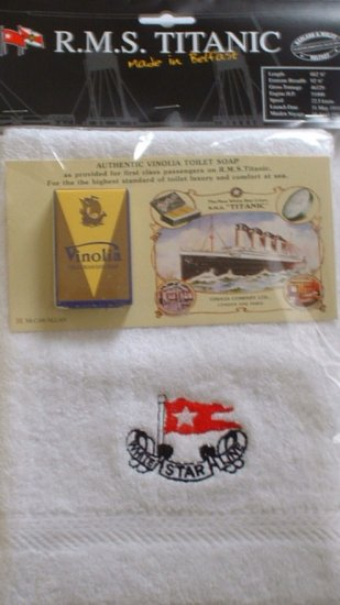 Titanic Face Cloth & Vinolia Soap