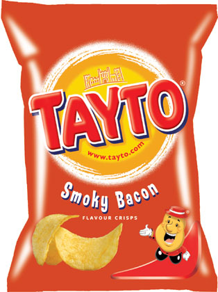 Tayto ¦ Smoky Bacon ¦ Potato Crisps ¦ 35g Bags x 24