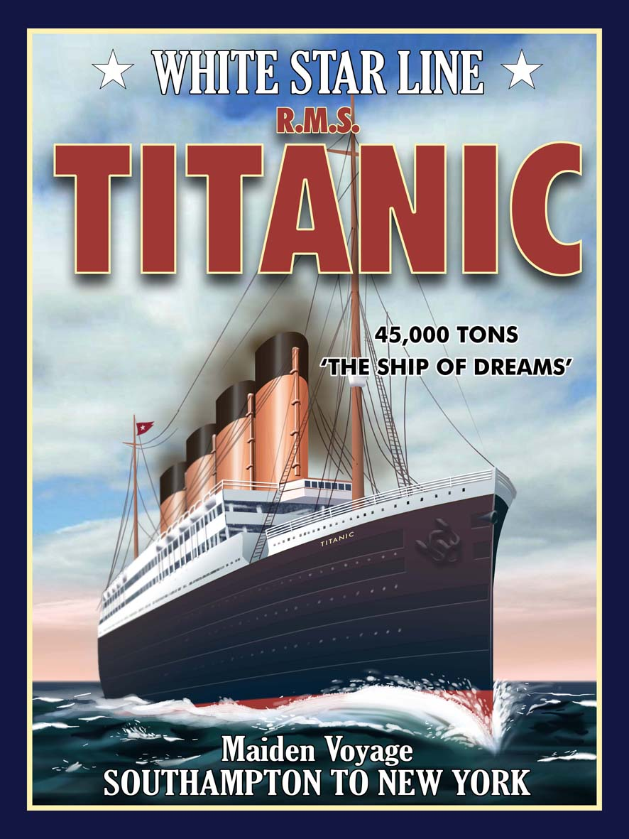 R.M.S. Titanic - Southampton - New York Metal Sign