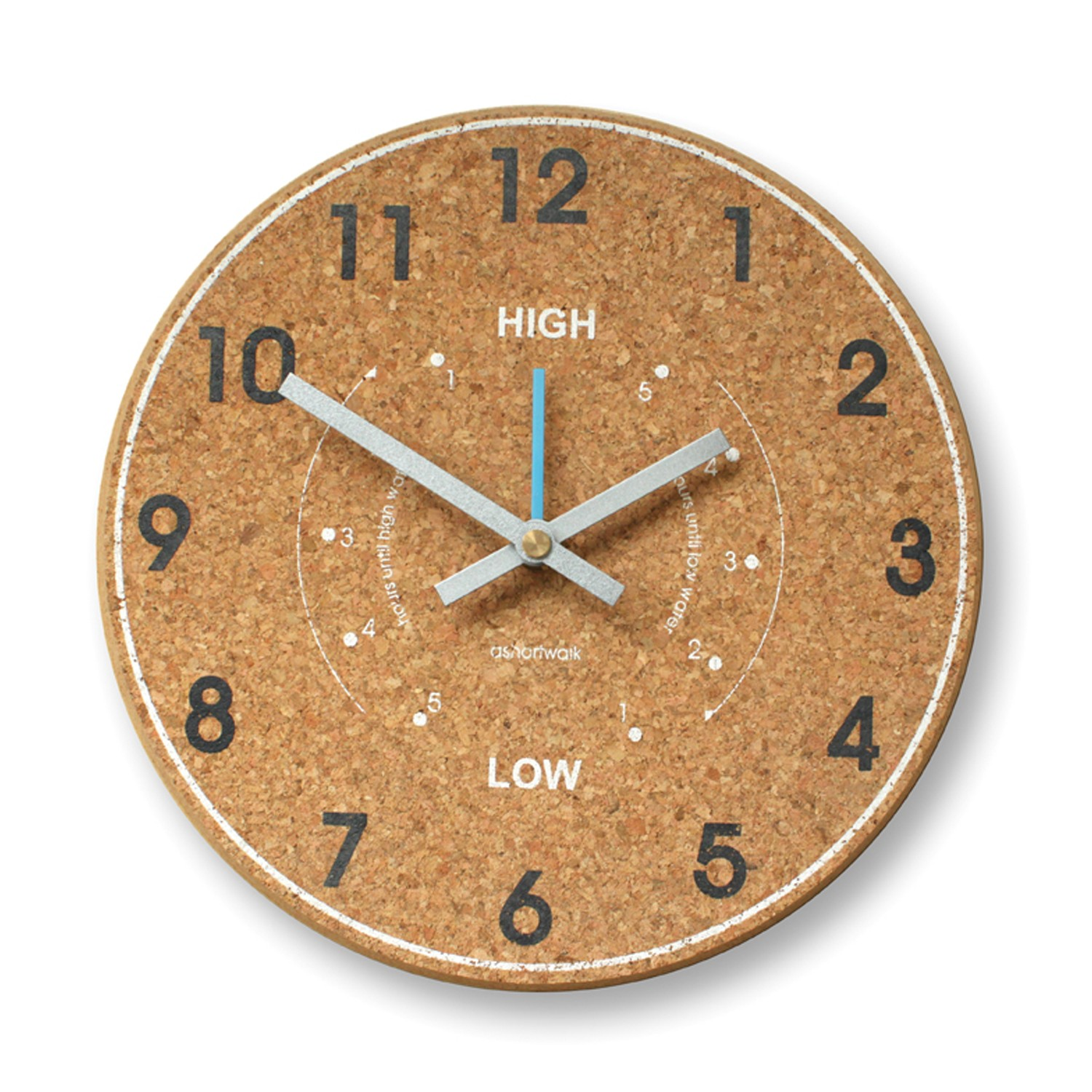 Chunky Cork Time and Tide Wall Clock