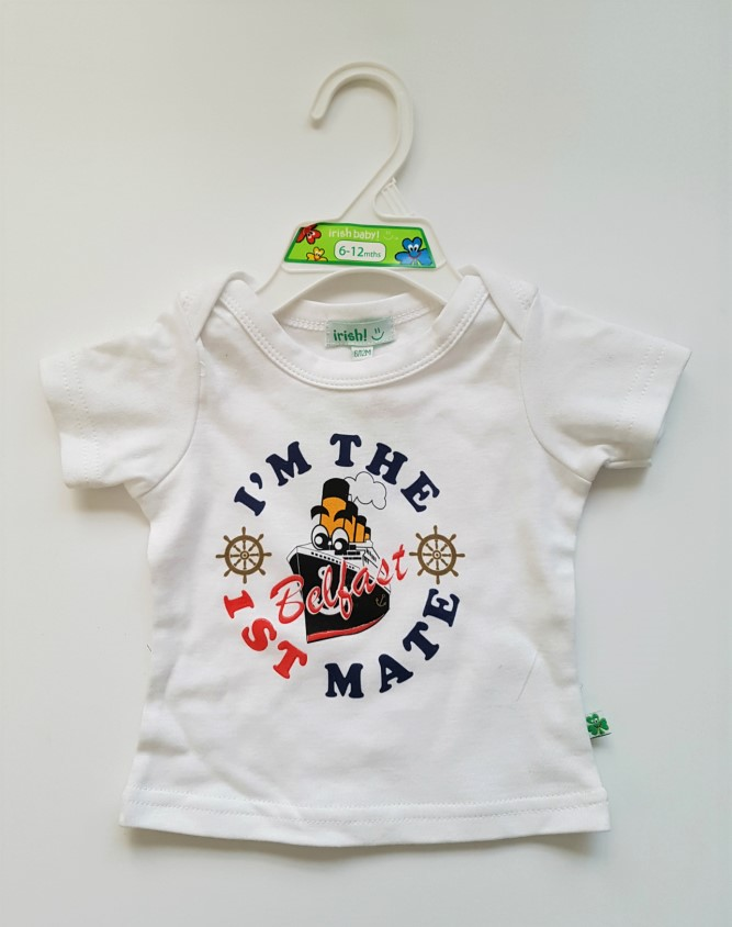 I'm The 1st Mate Baby Tee Shirt - White