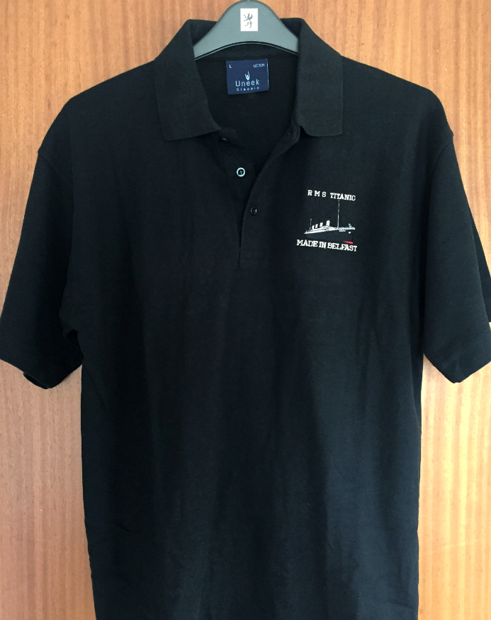 RMS Titanic Made In Belfast Polo Shirt - Black