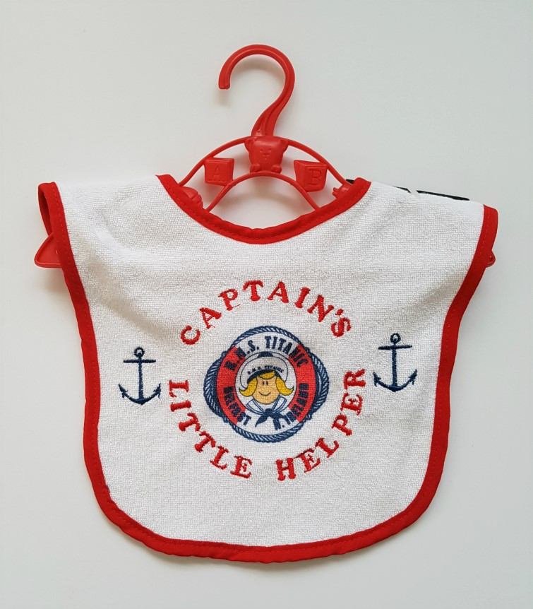 Titanic Captains Baby Bib - Red