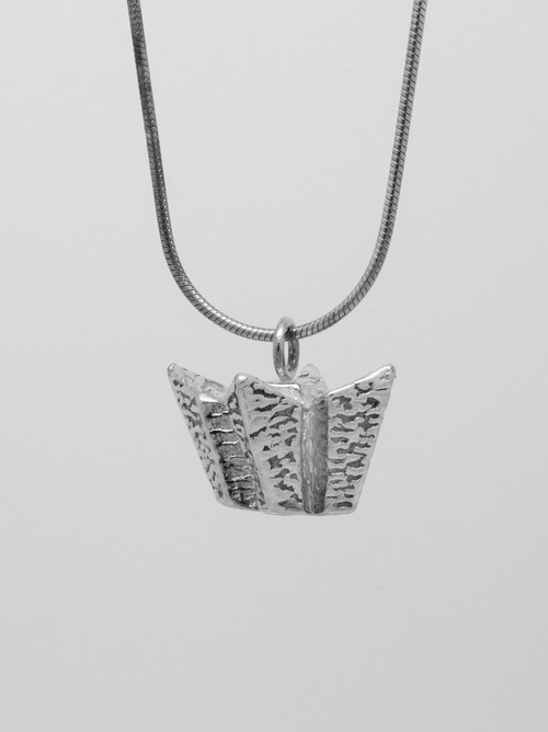 Titanic Belfast Solid Silver Necklace and Pendant - Plain