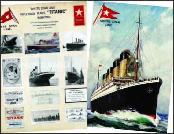 Titanic Collage and Portrait Art Prints - Set of 2