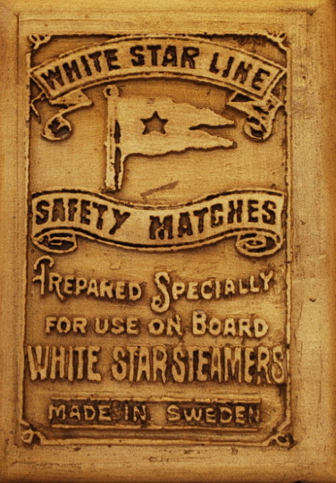 White Star Line | Titanic | Safety Matches | Bronze Wall Plaque