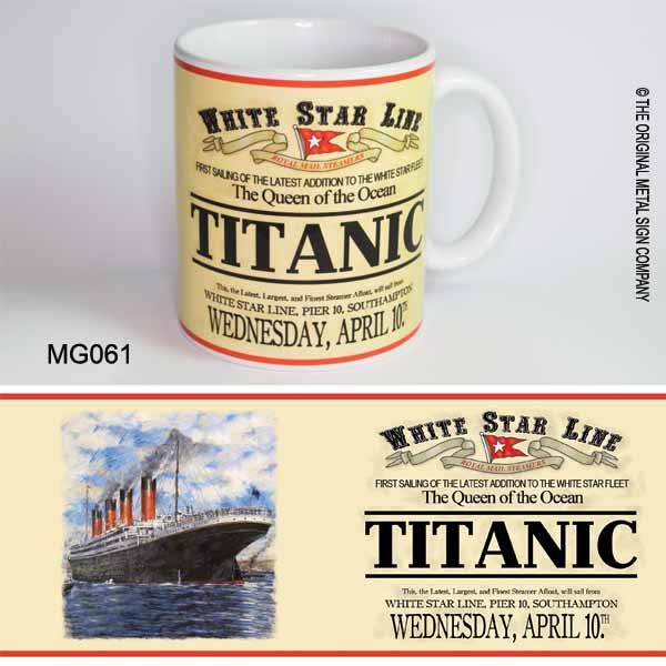 Titanic Retro Ceramic Mug