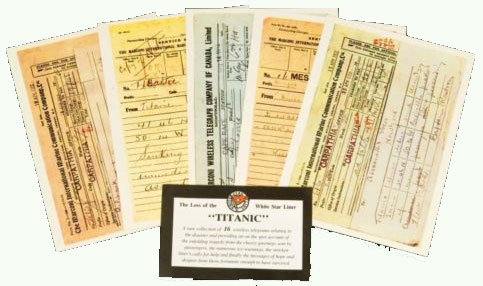 Titanic Telegram Postcards x 16