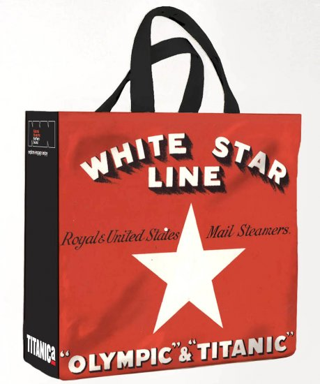 White Star Line PVC Medium Shopping Bag