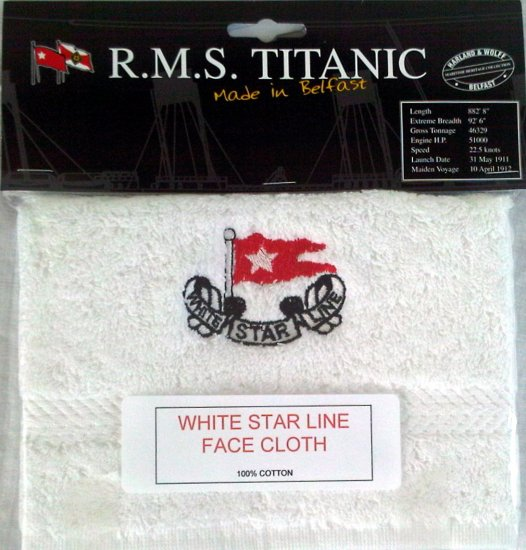 RMS Titanic Face Cloth