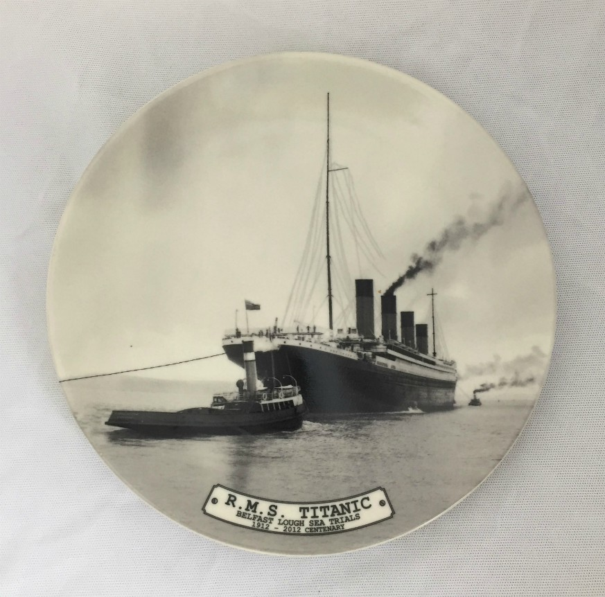 RMS Titanic Sea Trials Bone China Plate - 20 cm