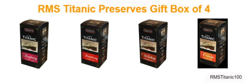 Grace's R.M.S. Titanic Preserves Gift Box of 4