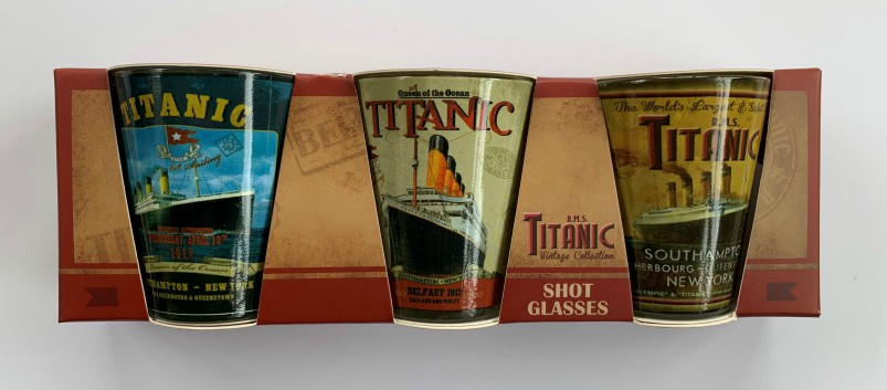RMS Titanic Vintage Collection Pack of 3 Shot Glasses
