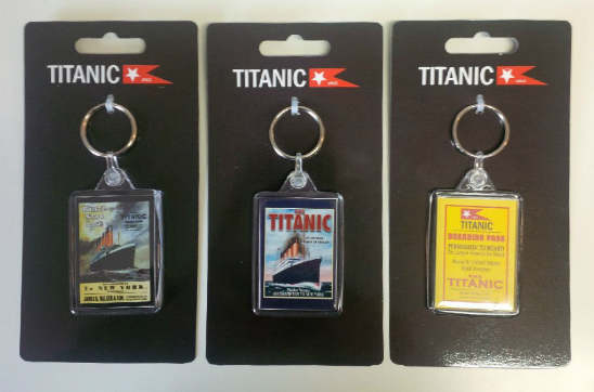 RMS Titanic Acrylic Keyrings Set of 3