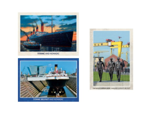 Titanic and Nomadic 3D Postcards - Set of 3