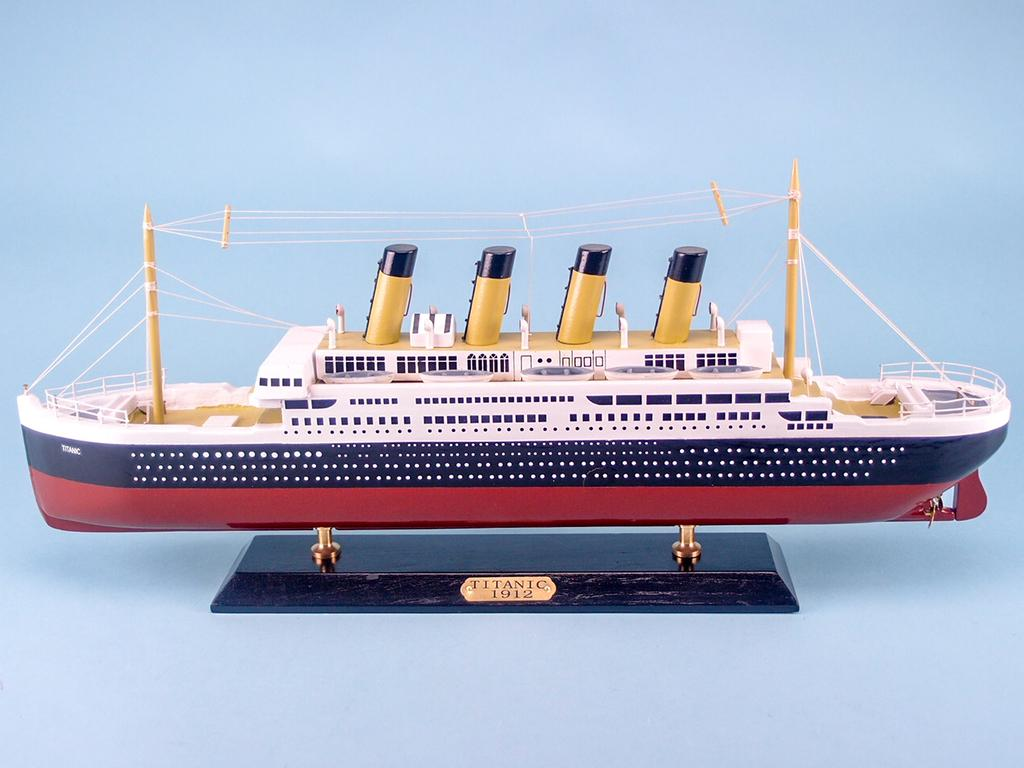 The Titanic 50cm Model Cruise Ship on a Wooden Stand