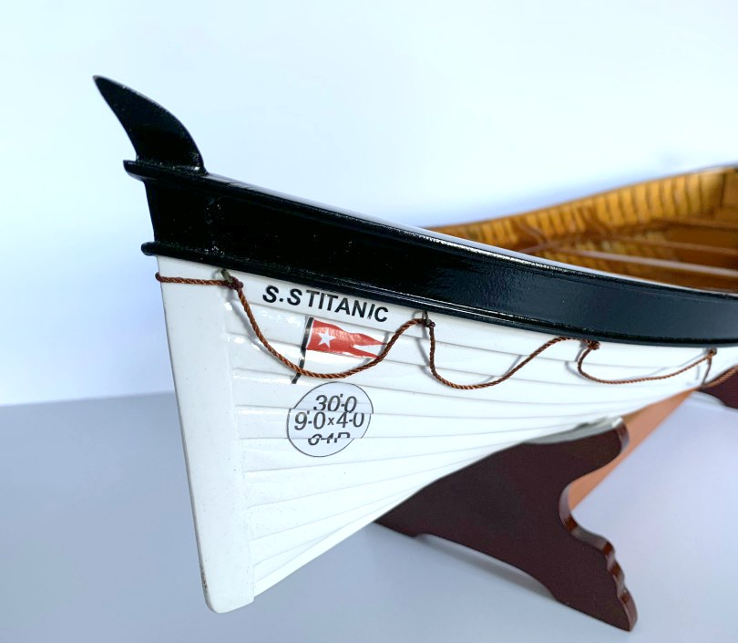 SS Titanic Lifeboat Wooden Model 60cm