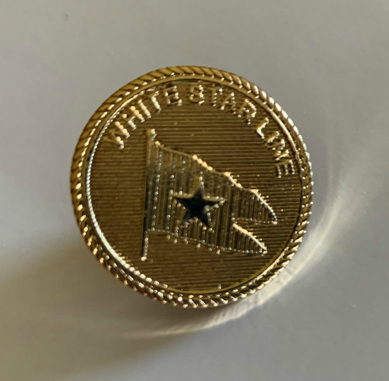 White Star Line Officers Button Pin Badge New
