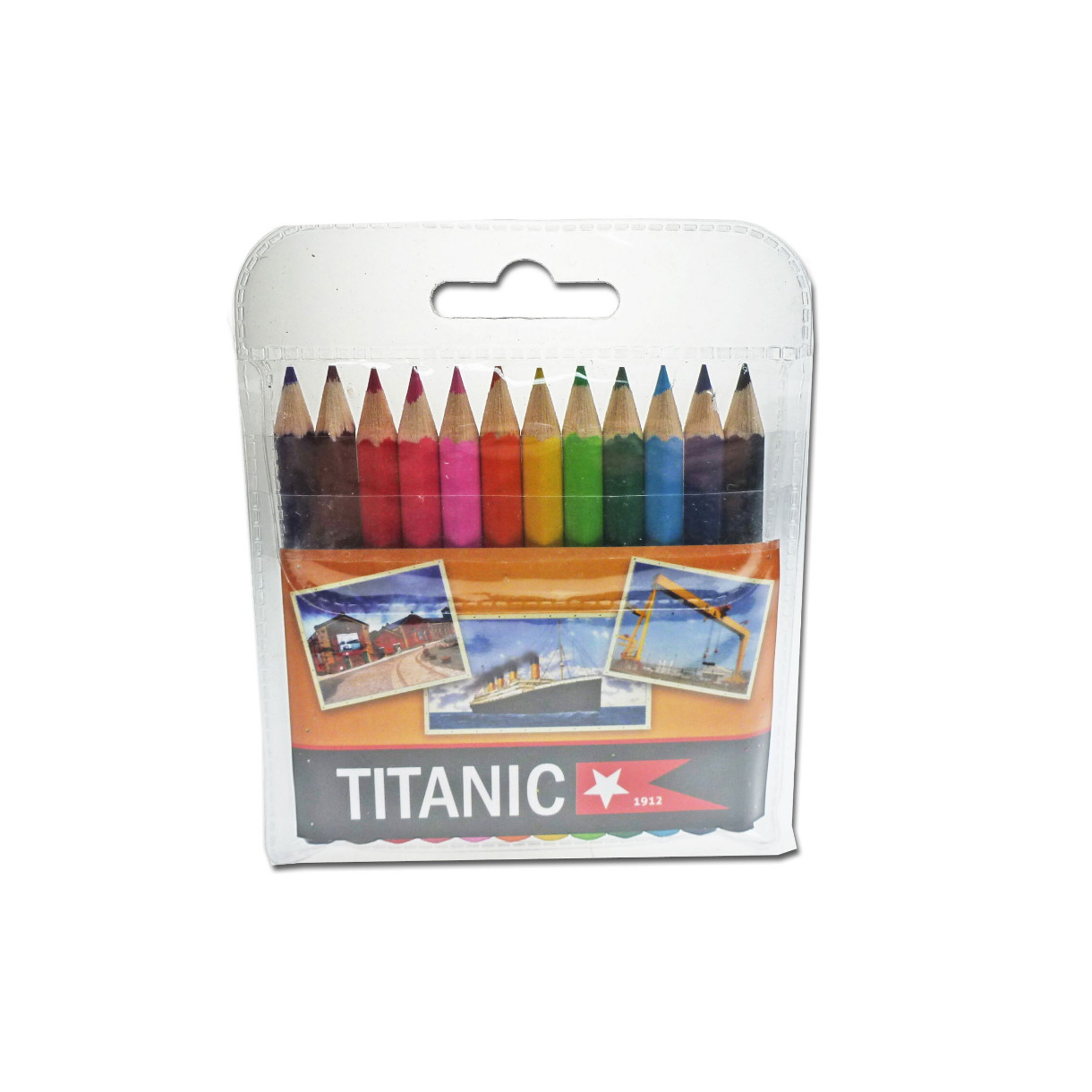 Titanic | 12 Pack | Childrens | Coloring Pencils | Wallet