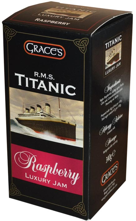 Grace's R.M.S. Titanic Raspberry Luxury Jam 340g